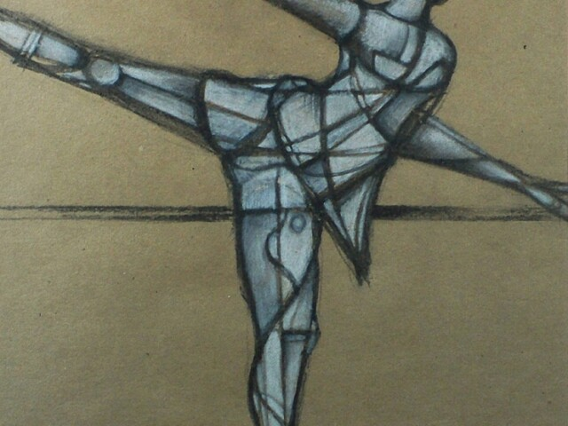 """Study of a Dancer at the Barre"""